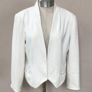 Ivory LC Lauren Conrad Jacket/Blazer Size 12